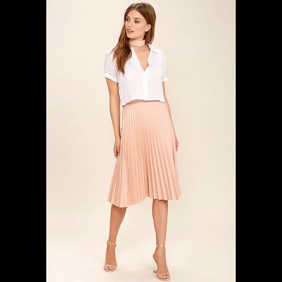 228ec51436 do & be Skirts | Dobe Pleated Midi Skirt In Blush Pink | Poshmark